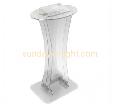 Acrylic factory wholesale stage speech lectern podium AFK-040