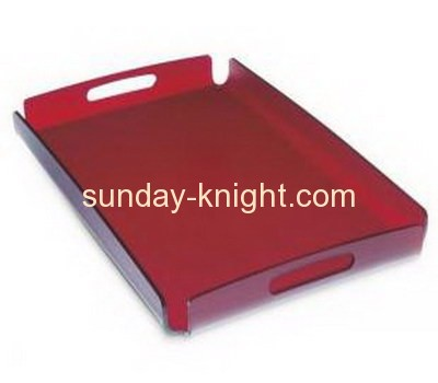 Factory direct sell acrylic plastic serving dry fruit storage tray FSK-040