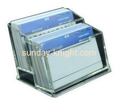 Top quality acrylic plastic tent business card holder BHK-036