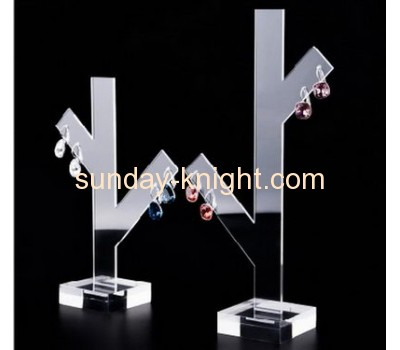 Clear acrylic cube earring jewellery counter display stand JDK-038