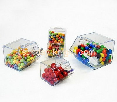 Wholesale acrylic plastic retail display counters wedding candy storage box FSK-042