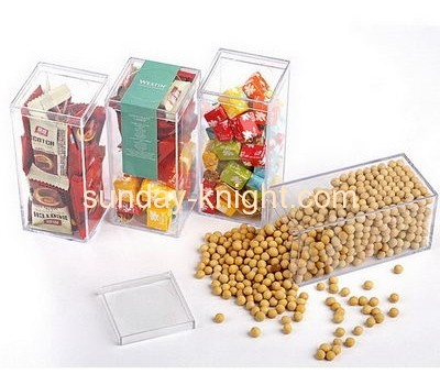 Custom retail display stands plastic acrylic food candy storage box FSK-044
