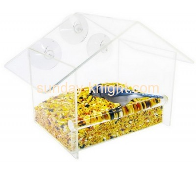 Wholesale acrylic clear window bird feeder acrylic bird feeder acrylic bird feeder AHK-039