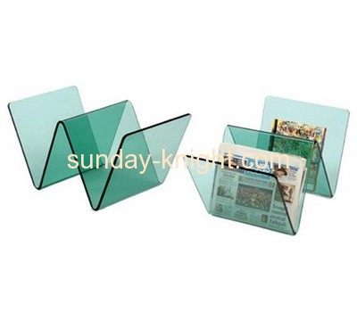 Customized acrylic book holder stand magazine stand book display stand BHK-044