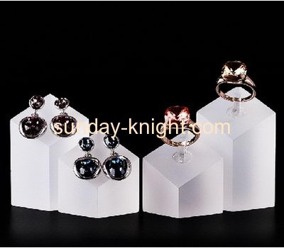 China factory customized acrylic block ring display jewellery display JDK-045