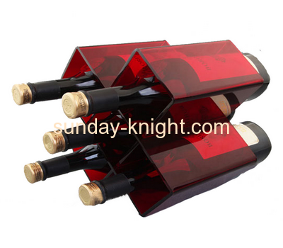 Wholesale acrylic wine bottle display rack retail bottle display racks wine bottle display rack WDK-040