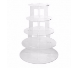 Factory direct wholesale 5 tiers acrylic cake display cake display trays acrylic display stand FSK-056