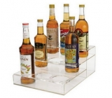 Factory custom design 3 tiers acrylic wine holder acrylic bottle display wine display WDK-041