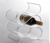 Custom design clear acrylic wine bottle holder soda bottle display rack wine display rack WDK-042