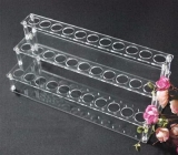 Factory hot sale acrylic counter top display make up display stand cosmetic product display stands MDK-067