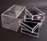 Factory wholesale acrylic makeup organizer with drawers make up organizer acrylic organizer for cosmetic MDK-066