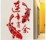 Factory wholesale wall sticker ikea wall mirror sticker acrylic wall mirror stickers MAK-023