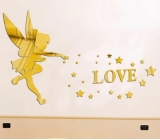 Factory wholesale acrylic love sticker custom mirror acrylic mirror sticker MAK-072