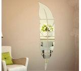 Hot selling acrylic mirror wall stickers antique gold leaf frame wall mirror wall mirror stickers MAK-090