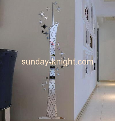 Customized acrylic mirror tile wall mirror stickers stair wall sticker MAK-089
