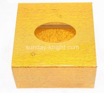 Custom small acrylic box square tissue box perspex box DBK-086
