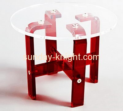 Hot selling clear acrylic round dining table coffee table modern cofee table AFK-071