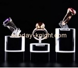 Supplying clear plastic display stands shop display stands jewelry ring stand JDK-068