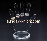 Wholesale acrylic jewelry display hand acrylic retail displays plastic counter displays JDK-065