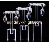 Customized acrylic merchandise display earring trees organizers beauty display stands JDK-102