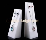 Custom design necklace holder stand cheap wholesale jewelry perspex display JDK-117