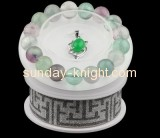 Custom round acrylic display stand cheap jewelry displays white bracelet holder JDK-163