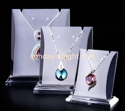 Custom design acrylic necklace stand jewellery display stands acrylic table display stands JDK-155