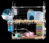 Acrylic display supplier custom acrylic bird cages small hamster cage PCK-025
