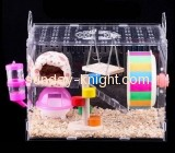 Acrylic display manufacturers custom acrylic bird houses critter nation cage PCK-029