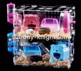 Acrylic display factory custom acrylic bird cage amazing hamster cages for sale PCK-032