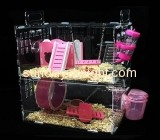 Acrylic boxes suppliers custom finch aviary transparent hamster cage PCK-076