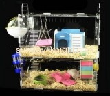 Display box manufacturers customize acrylic display boxes hamster cages for two hamsters PCK-115