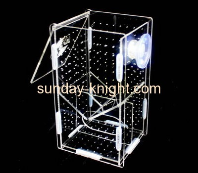 Display case manufacturers customize plexiglass case breeding box for fish PCK-107
