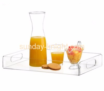 Acrylic plastic supplier customize acrylic food serving tray ODK-083