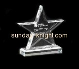 Five-pointed star acrylic  trophies and medals ATK-012
