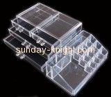 Large acrylic storage box with four drawers and top holders MDK-027