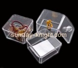 Transparent acrylic storage box for cosmetics with lid MDK-026