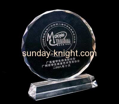 Round clear acrylic trophies and medals ATK-019
