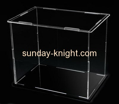 Clear plastic display storage boxes DBK-009