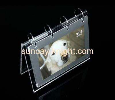 Plexiglass manufacturer customized plastic calendar holder ODK-132