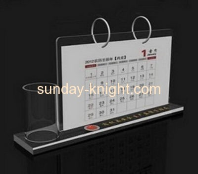 Lucite manufacturer customized acrylic desk calendar holder ODK-134