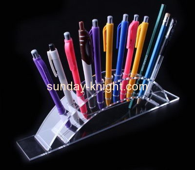 Acrylic products manufacturer customized acrylic stylish pen holder display stand ODK-145