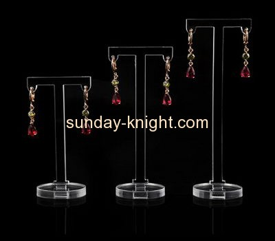 Acrylic plastic supplier customized retail earring display stand racks for sale JDK-341