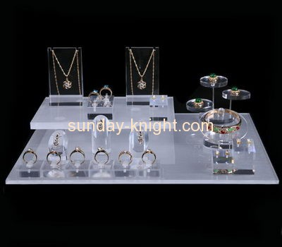 Shop display stands suppliers customized acrylic block display jewellery stands JDK-398