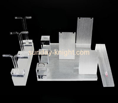 Acrylic items manufacturers customized lucite retail jewellery display stands JDK-415