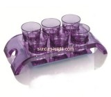 Acrylic plastic supplier customized shot glass display holder tray WDK-050