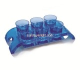 Display stand manufacturers customized acrylic cheap shot glass holder WDK-052