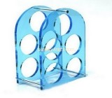 China acrylic manufacturer customized bottle storage rack holder WDK-053