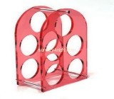 Acrylic manufacturers china customized wine bottle wine rack holder WDK-054
