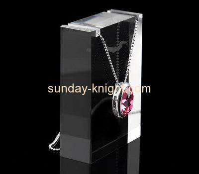 Acrylic plastic supplier customized acrylic tall necklace display stand JDK-451